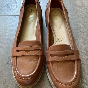 Clark's loafers brown st 9